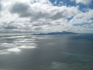 Kapiti Island from the top of the Paekakariki Hill road