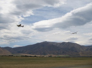 Gliding at Omarama in Central Otago, wild beauty and wonderful cloud formations