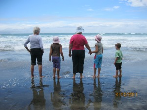 Some of my family at the beach