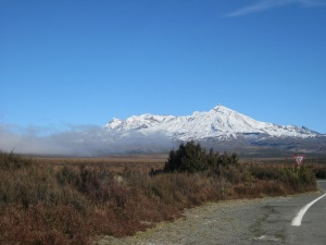 Mt Ruapehu from the Desert Road in the central North Island of New Zealand
