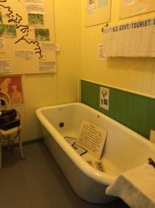 The bath in the treatment room, Te Aroha museum